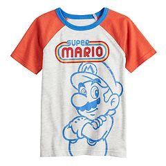 Boys 4-12 SONOMA Goods for Life™ Super Mario Bros. Retro Raglan Tee