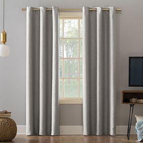 Sun Zero Extreme 2-Pack Tanden Textured Theater Grade Blackout Window Curtains