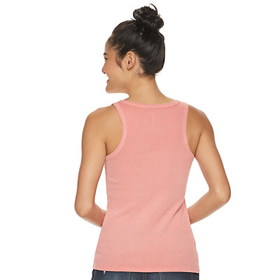 Juniors' SO® Ribbed Henley Tank