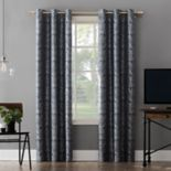 Sun Zero Extreme 2-Pack Scarlet Paisley Embroidery Theater Grade Blackout Window Curtains