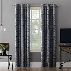 cc8f2b4e479 Sun Zero Extreme 2-Pack Scarlet Paisley Embroidery Theater Grade Blackout  Window Curtains