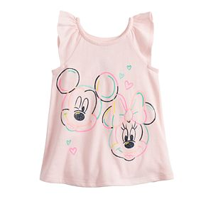 Disney's Mickey & Minnie Mouse Baby Girl Graphic Flutter Tank Top