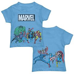Toddler Boy Marvel Team Line Up Graphic Tee