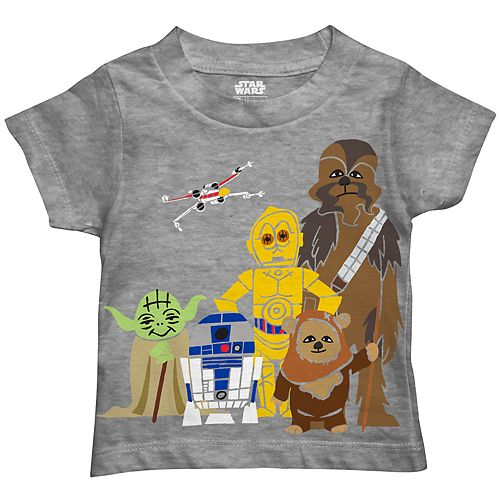 27b44790c Toddler Boy Star Wars Paper Straws Graphic Tee