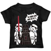 Toddler Boy Star Wars Darth Vader & Storm Troopers Graphic Tee