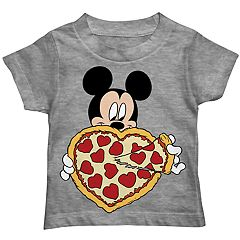 Disney's Mickey Mouse Toddler Boy Heart Pizza Graphic Tee