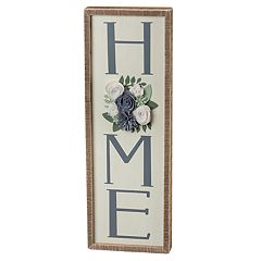 'Home' Floral Wall Art