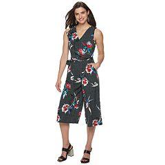 314605529bd6 Women s Apt. 9® Asymmetrical Ruffle V-Neck Jumpsuit. Black White Stripe ...