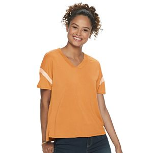 Juniors' Pink Republic Oversize Drop Shoulder Knit Top