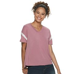 Juniors' Pink Republic Oversize Drop Shoulder Knit Top