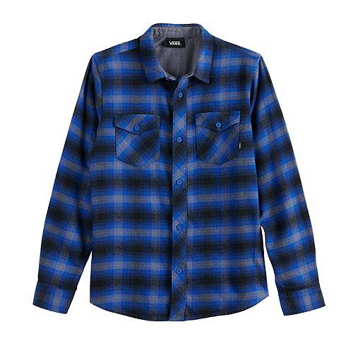 Boys 8-20 Vans Wild-Square Button-Down Shirt