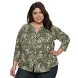 Plus Size SONOMA Goods for Life? Printed Blouse