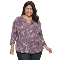 Plus Size SONOMA Goods for Life™ Printed Blouse
