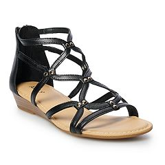 a9046746d460 Apt. 9® Clarion Women s Gladiator Sandals. Cream Cognac Black