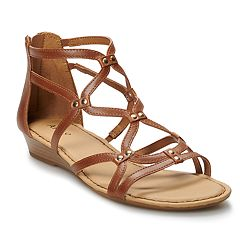 ec0b7d2cd9f Apt. 9® Clarion Women s Gladiator Sandals. Cream Cognac Black