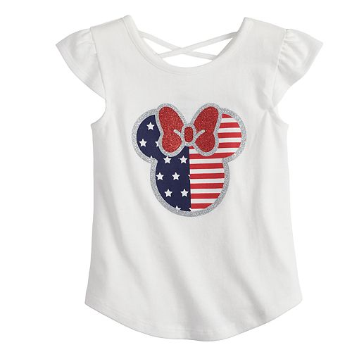 a9d390419 Disney's Minnie Mouse Toddler Girl Fourth of July Graphic Tee by Jumping  Beans®
