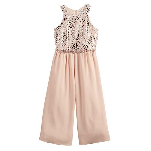 Girls 7-16 Love, Jayne Soutache Bodice Jumpsuit