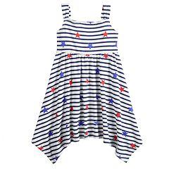 Baby Girl Jumping Beans® Patriotic Handkerchief-Hem Dress