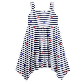 Baby Girl Jumping Beans® Patriotic Handkerchief-Hem Dress