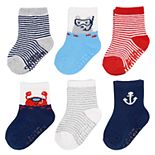 Baby / Toddler Boy Carter's 6-pack Striped Nautical Crew Socks