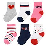 Baby / Toddler Girl Carter's 6-pack Heart Crew Socks