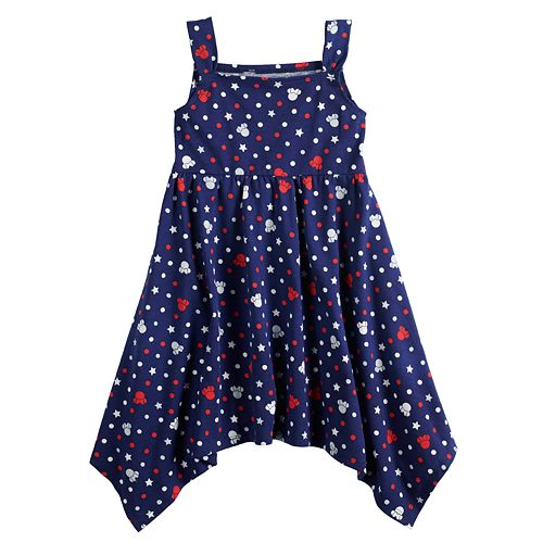 Disney's Minnie Mouse Baby Girl Patriotic Handkerchief-Hem Dress by Jumping Beans®