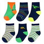Baby / Toddler Boy Carter's 6-pack Dinosaur Crew Socks