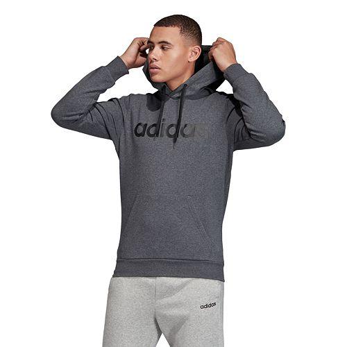 Men's adidas Essential 3 Stripe Pullover Hoodie