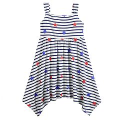 Toddler Girl Jumping Beans® Patriotic Handkerchief-Hem Dress