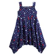 Disney's Minnie Mouse Toddler Girl Patriotic Handkerchief-Hem Dress by Jumping Beans®