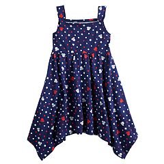 f767365dcc0 Disney s Minnie Mouse Toddler Girl Patriotic Handkerchief-Hem Dress by  Jumping Beans®