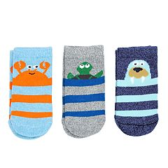 Baby / Toddler Boy Carter's 3-pack Sea Character Crew Socks
