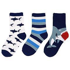 Baby / Toddler Boy Carter's 3-pack Shark Crew Socks