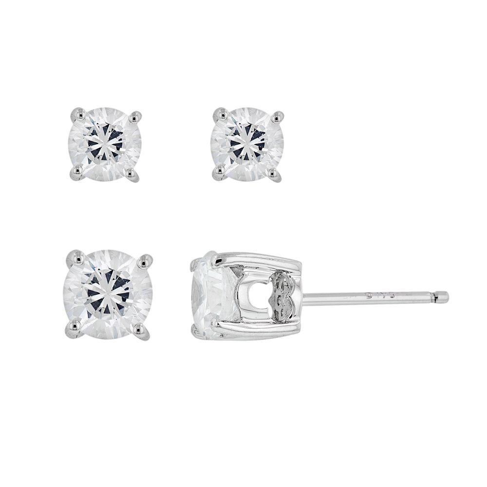 DiamonLuxe Sterling Silver 1 1/2-ct. T.W. Cubic Zirconia Stud Earring Set