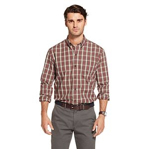 Men's Arrow Plaid Button-Down Shirt