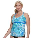 Plus Size Free Country Strappy Back Tankini Top