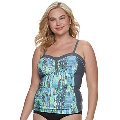 Plus Size Free Country Ruched Tankini Top