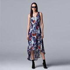 Petite Simply Vera Vera Wang Floral High-Low Hem Dress