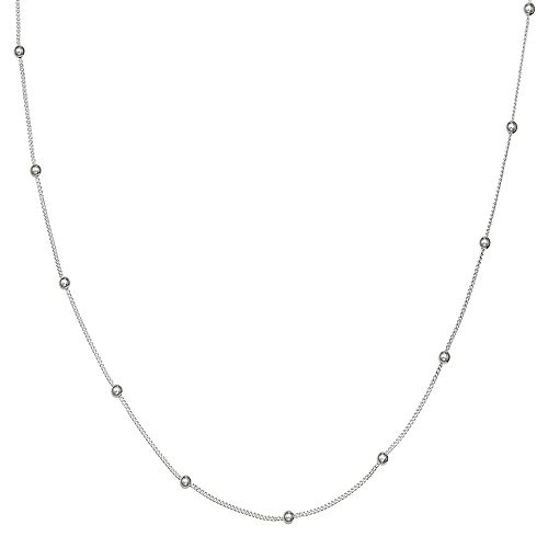 PRIMROSE Sterling Silver Curb Chain Necklace