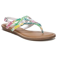 94bdd2df6cad0a Fergalicious Snazzy Too Women s Thong Sandals. Fawn White Multi White  Natural Multi Black
