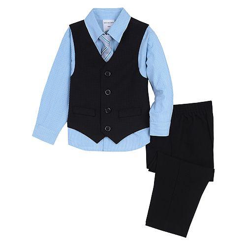Toddler Boy Van Heusen 4 Pc Vest, Shirt, Pants & Tie Set