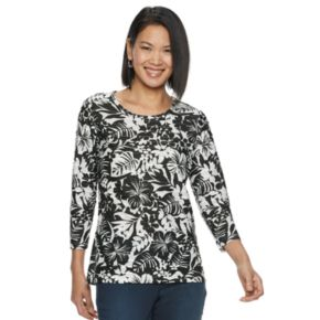 Women's Napa Valley Embellished Tropical Print Top