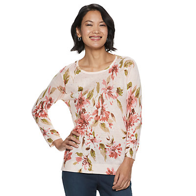 Women's Cathy Daniels Embellished Floral Sweater
