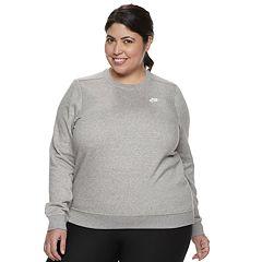 Plus Size Nike Fleece Crewneck Sweatshirt