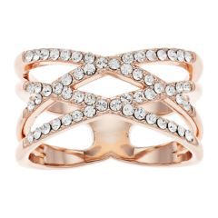 Criss Cross Enement Ring | Swarovski Crystals Rings Jewelry Kohl S