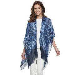 Women's Chaps Tie-Dye Patchwork Ruana