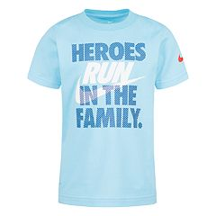 Boys 4-7 Nike 'Heroes Run In The Family.' Graphic Tee