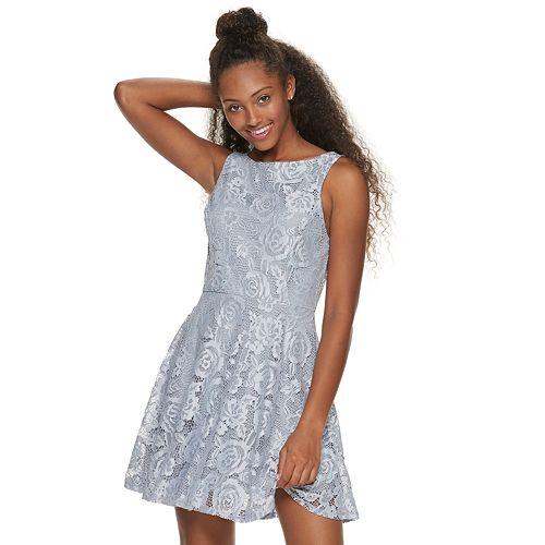 e600afe5d Juniors' Speechless Sleeveless Lace Skater Dress