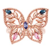 Brilliance Butterfly Ring with Swarovski Crystals
