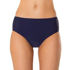 Women's Mazu Swim Hip Minimizer Midrise Brief Bikini Bottoms
